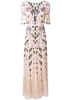Temperley embroidered floral dress