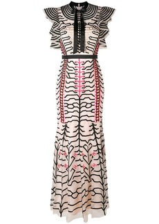 Temperley embroidered geometric dress