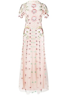Temperley embroidered tulle gown