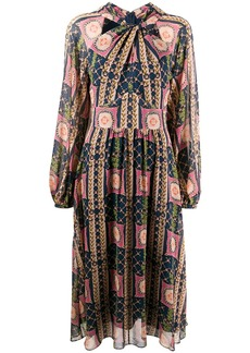 Temperley Etoile-print silk dress