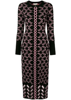Temperley eyelet detail fitted dress