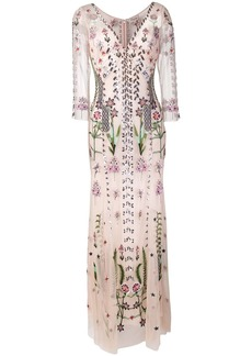 Temperley floral embroidered evening dress