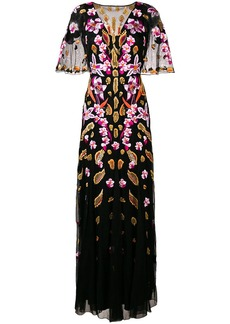 Temperley floral embroidered fitted long dress