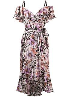 Temperley floral print asymmetric hem dress