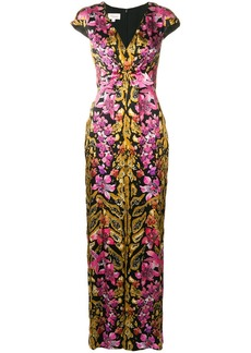 Temperley floral printed knotted dress
