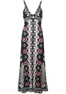 Temperley Flux printed flared dress