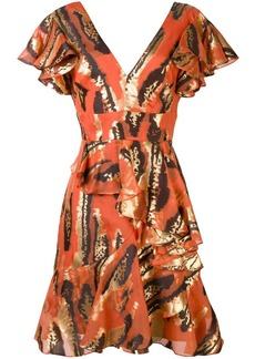 Temperley frill detail mini dress