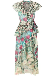 Temperley Garden Cacti printed dress