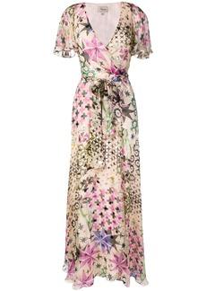 Temperley geometric floral wrap dress