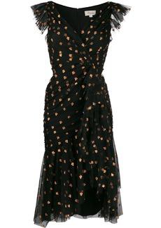 Temperley glitter detail midi dress