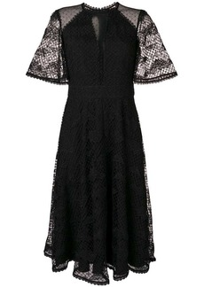 Temperley Haze lace sleeved dress