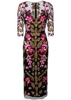 Temperley iris embroidered sweetheart dress
