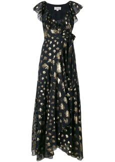 Temperley leaf print wrap dress
