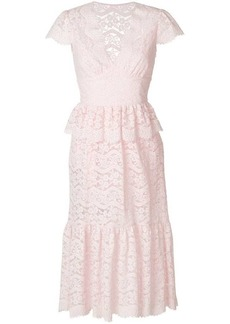 Temperley Lunar lace-detail midi dress