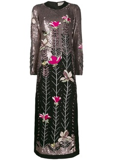 Temperley magnolia maxi-dress