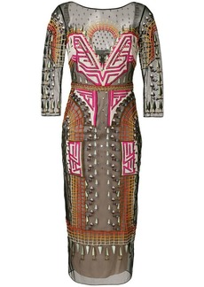 Temperley Maze midi dress