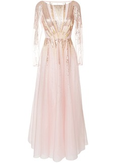 Temperley Mineral flared dress