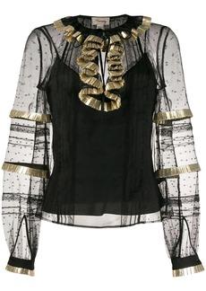 Temperley Phantom sheer effect blouse