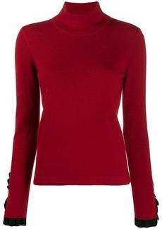 Temperley pleated cuff turtleneck sweater
