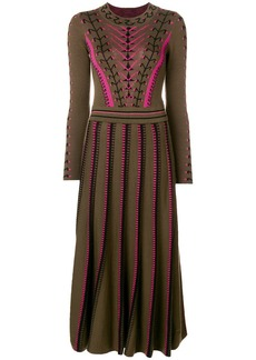 Temperley pleated knit dress