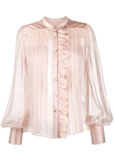 Temperley pleated sheer blouse