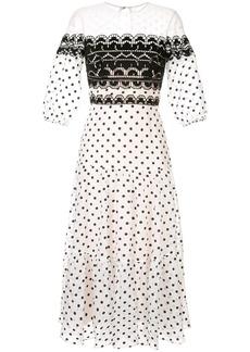 Temperley polka dot midi dress