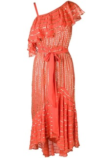 Temperley printed metallic asymmetrical dress