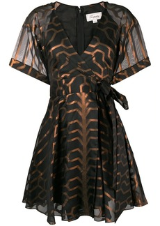 Temperley printed short sleeve wrap dress