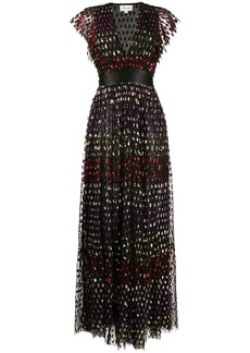 Temperley rainbow sequin column dress