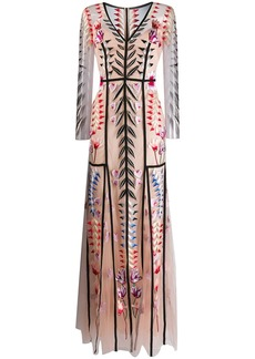 Temperley Rosy V-neck dress