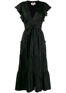 Temperley ruffled midi dress