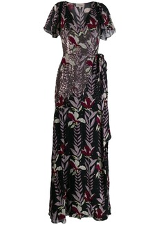 Temperley sequin embellished gown