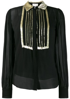 Temperley sequin embroidered blouse