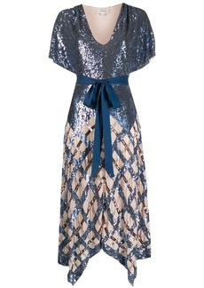 Temperley sequin midi dress