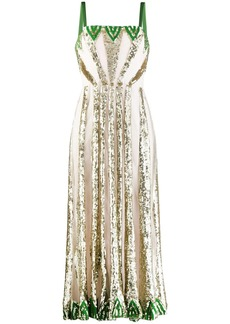 Temperley sequin panelled dress