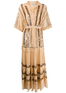 Temperley sequined crepe maxi dress