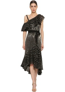 Temperley Sequined Georgette Dress