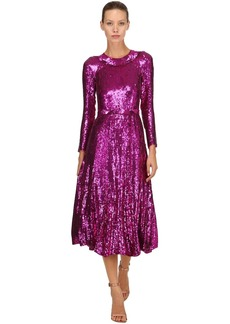Temperley Sequined Midi Dress