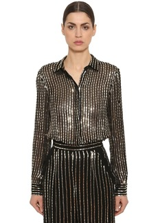 Temperley Sequined Sheer Georgette Shirt