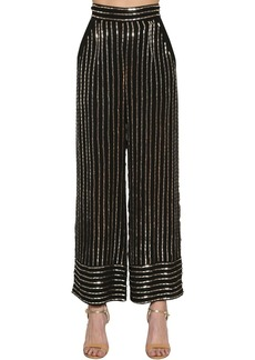 Temperley Sequined Wide Leg Pants