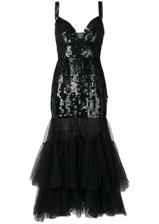Temperley sequinned tulle tiered dress