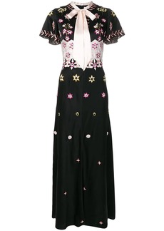 Temperley shawl floral evening gown