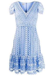 Temperley short-sleeved crochet dress