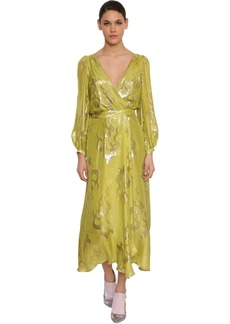 Temperley Silk Blend Wrap Midi Dress