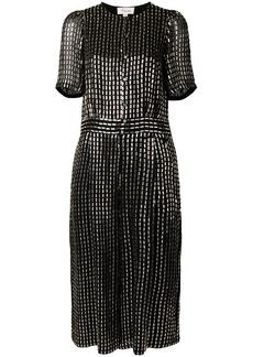 Temperley silver beaded short sleeve dress