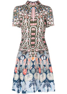 Temperley Spiral printed mini dress