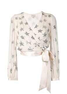 Temperley Starlet sequin wrap blouse