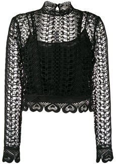 Temperley Sunbird heart-shaped embroidery blouse