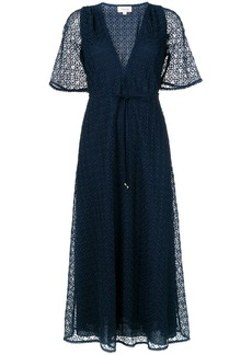Temperley Sunrise v-neck dress