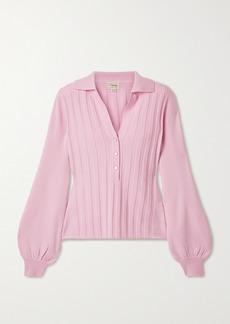 Temperley Tabitha Ribbed Merino Wool Top